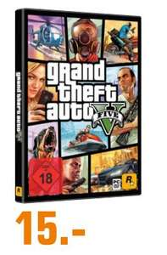 [[Regional Saturn Lüdenscheid ab 16.04] Grand Theft Auto V 5 (GTA 5) PC *DISC VERSION* für 15,-€
