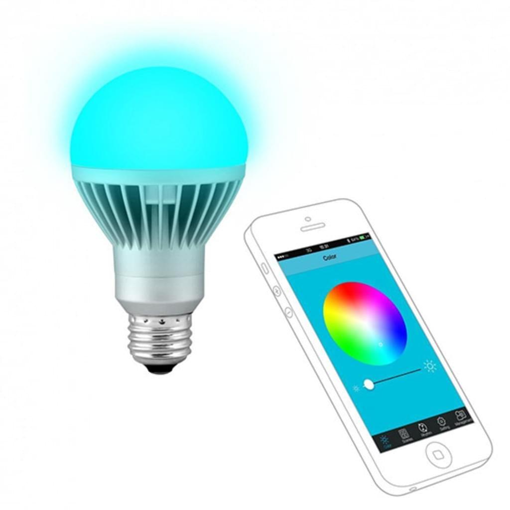 Technaxx - LED-Glühlampe - E27 - 7 W ( Entsprechung 40 W ) - Klasse A - RGB-Licht