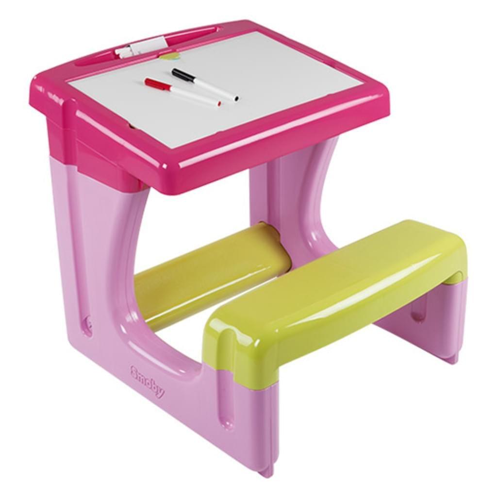 Smoby Schul-Arbeitstisch für kleine Schüler H 54 x B 55 x T 58 cm