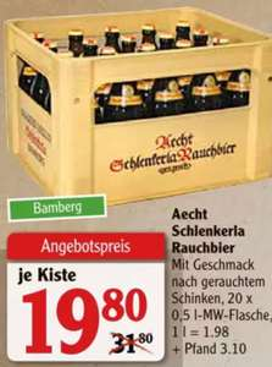 Aecht Schlenkerla Rauchbier Lokal im Globus Weischlitz im Angebot