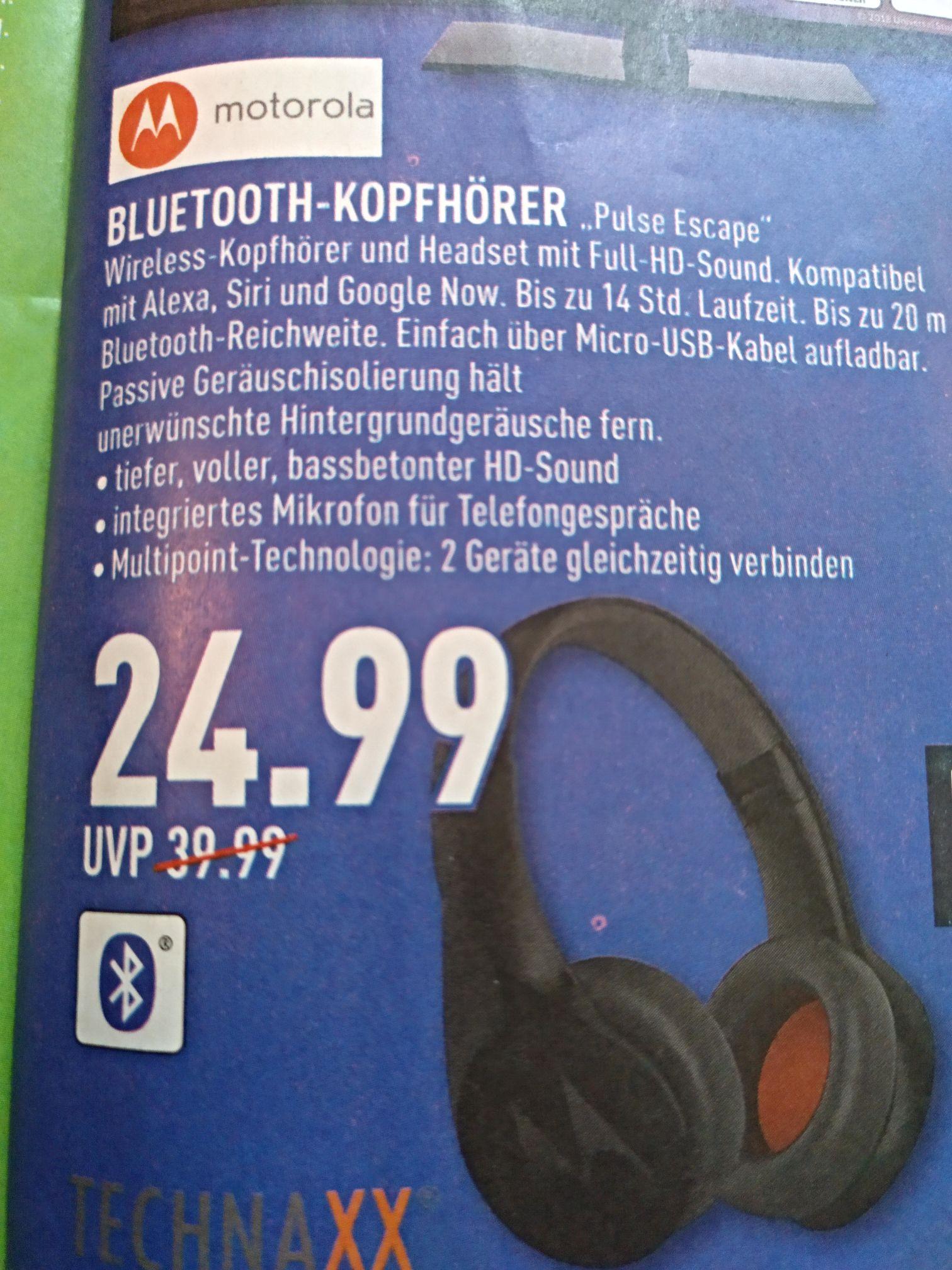 "Motorola BT-Kopfhörer ""Pulse Escape"" - Kompatibel mit Alexa, Siri und Google Now - [Marktkauf] evtl. lokal (Büren)"
