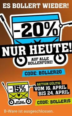 20% auf alle Bollerwagen von Fuxtec