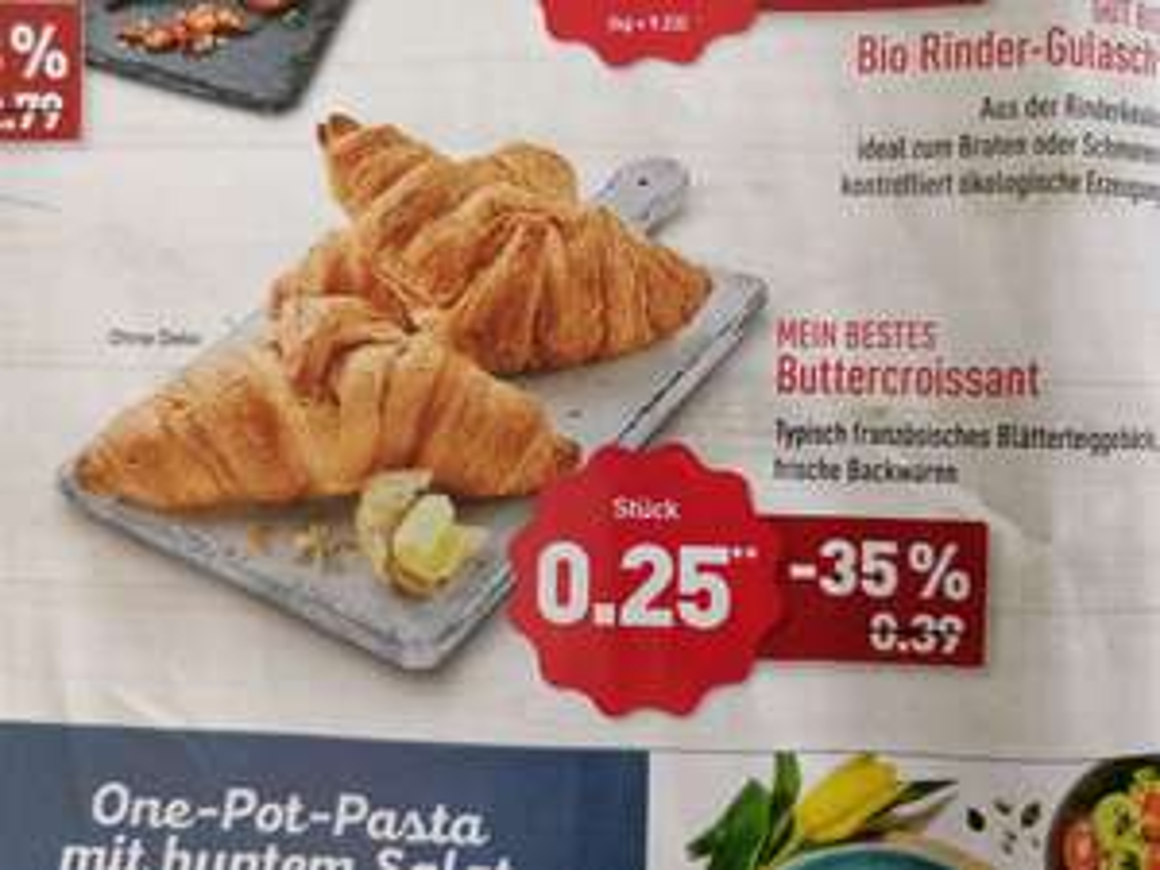 Aldi Nord, Buttercroissant