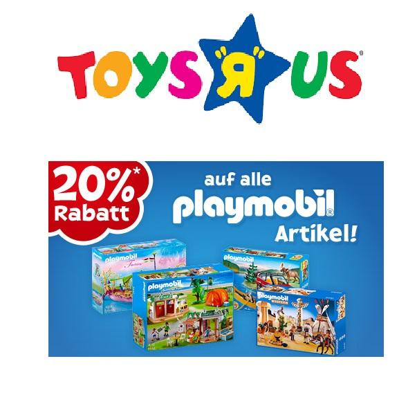 Heute bei Toys'R'us: 20% Rabatt auf alle Playmobil-Artikel!
