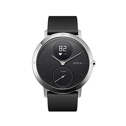 Nokia health Unisex Steel HR Hybrid Smartwatch - Fitnessuhr mit Herzfrequenz und Aktivitätsmessung - 36mm