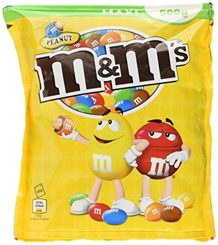 M&M'S Peanut  / Gefüllte Schokolinsen mit Nuss zum Knabbern / 4 x 500g Beutel