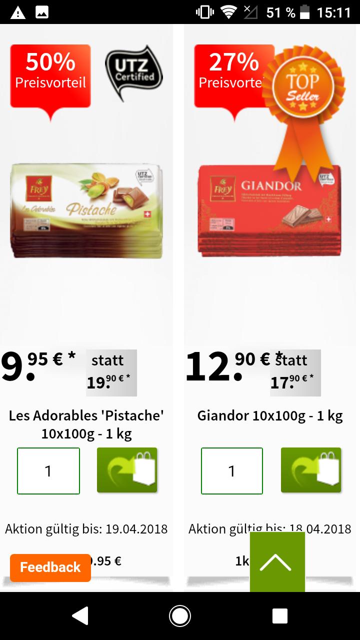 Migros: Schweizer Schokolade (Frey) + Oster Ausverkauf von - 75%