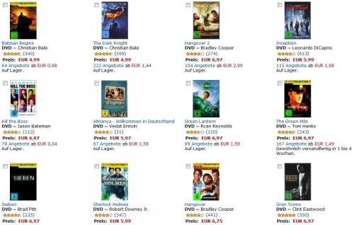[DVD] NEUE AMAZON AKTION:  4 DVDs für 20 Euro inkl. Versand @ Amazon.de