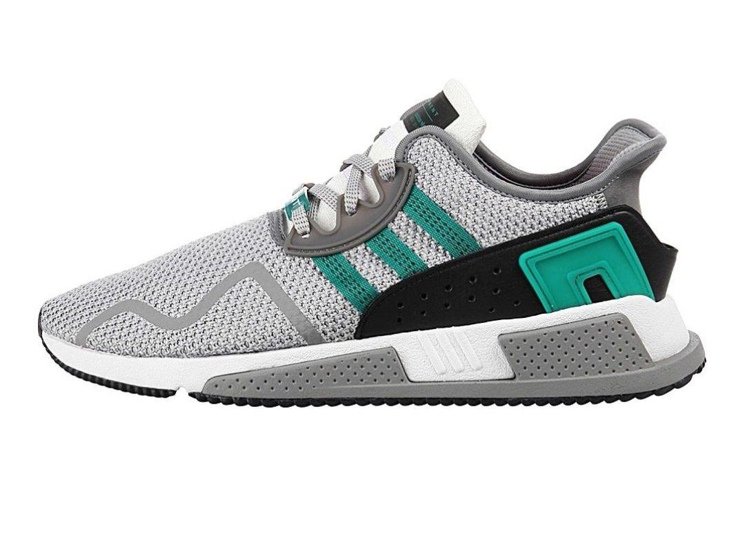 Adidas Originals EQT CUSHION ADV - Sneaker low - grey two/sub green (ausgewählte Größen)