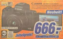 spiegellose Systemkamera Canon M50 mit EF-M 15-45 für 666 € im Laden, 669,99 € inkl. Versand