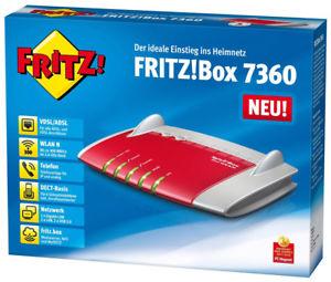 """[ebay] AVM FRITZ!Box 7360 (v2) VDSL Router inkl. Dect Station """"generalüberholt 24 Monate Gew."""" für 33,90€"""