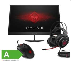 HP-Omen-Bundle bei [NBB]: HP Omen 25 Monitor (144Hz, FreeSync) + Omen-Headset 800 + Omen-Maus 600 für 249€