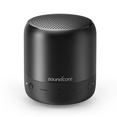 SoundCore Mini 2 - Mobiler Bluetooth Lautsprecher - mit Wasserschutzklasse IPX7, 15-Stunden-Spielzeit, 20 Meter Bluetooth Reichweite und Starkem Bass (Schwarz)