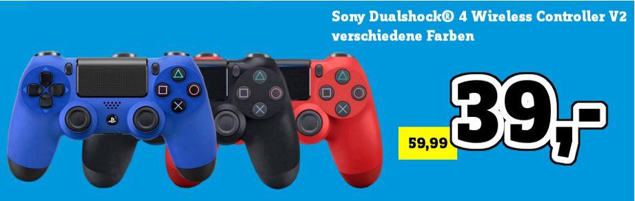 [Regional Conrad München-Moosach] Sony Playstation 4 Dualshock Wireless Controller v2 in 3 Farben für je 39,-€