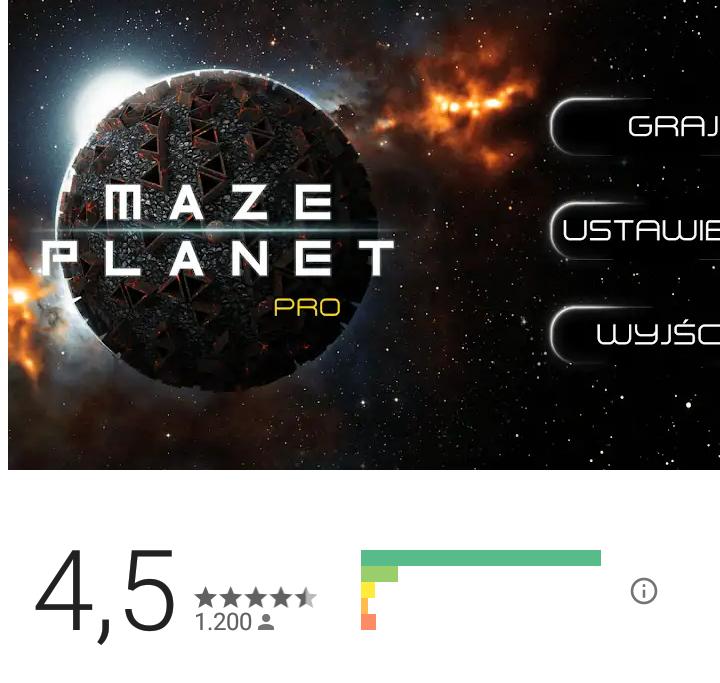 Kostenlos bei Google Playstore - Maze Planet 3D Pro