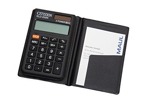 Citizen SLD-200N Taschenrechner schwarz für 3,14 EUR [Plus Produkt]