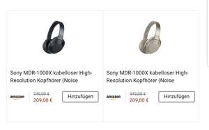 [Lokal Berlin evtl. München] Amazon Prime Now: Sony MDR-1000x