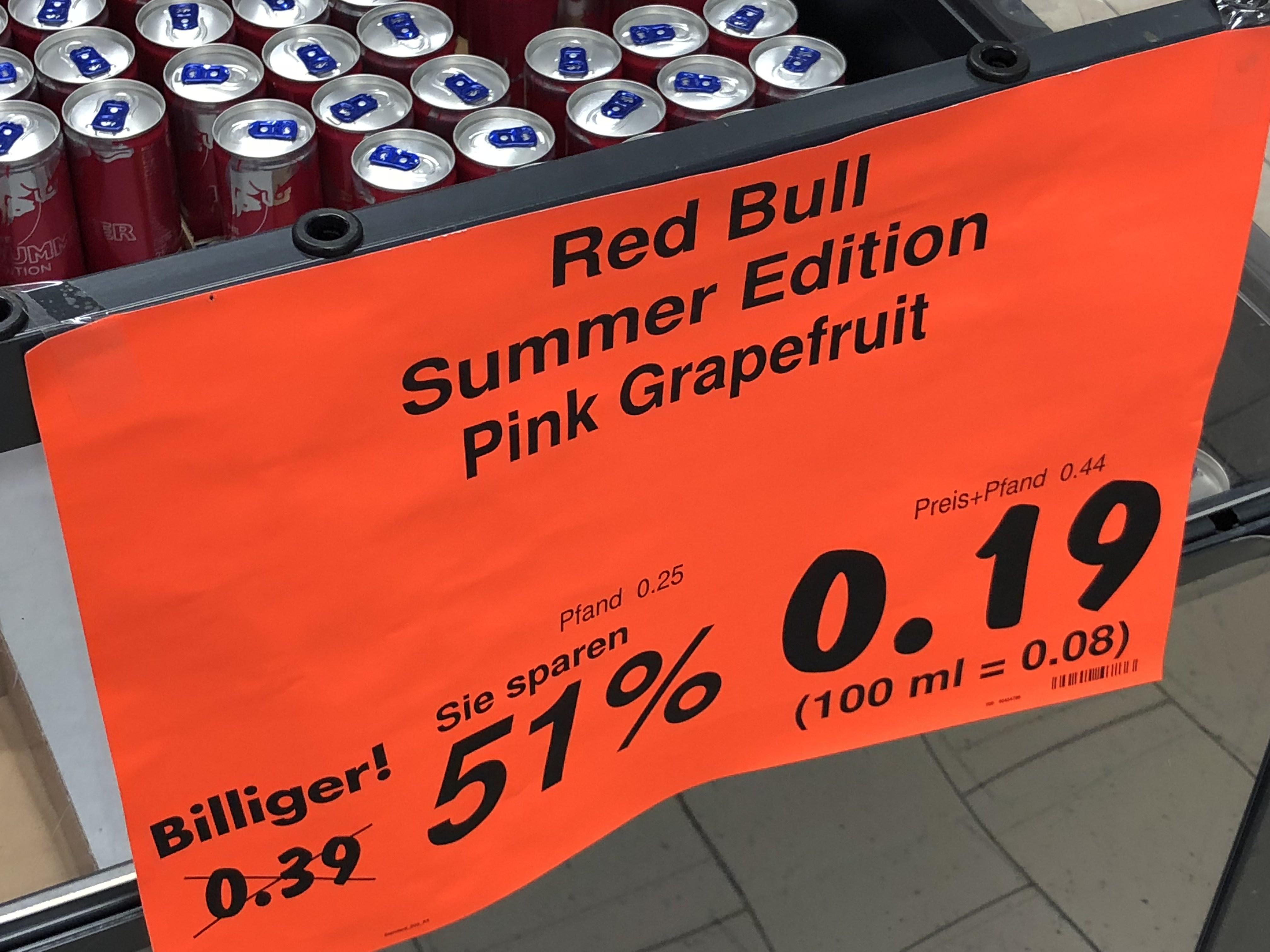 Redbull Summer Edition Pink Grapefreuit Hamburg Lurup Kaufland