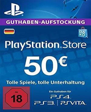 PSN Guthabenkarte 50€, Deutschland
