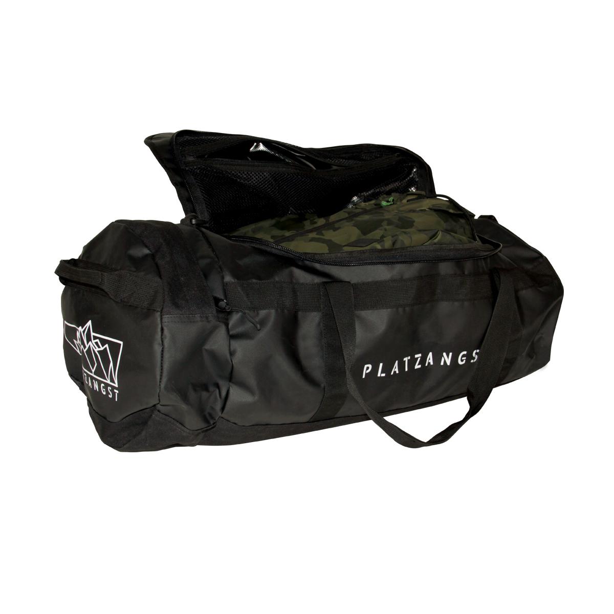 PLATZANGST Duffel Bag in Schwarz mit 50 Litern Fassungsvermögen