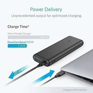 Anker PowerCore Speed 20100mAh Powerbank mit Power Delivery - USB-C Anschluss [Amazon.de]