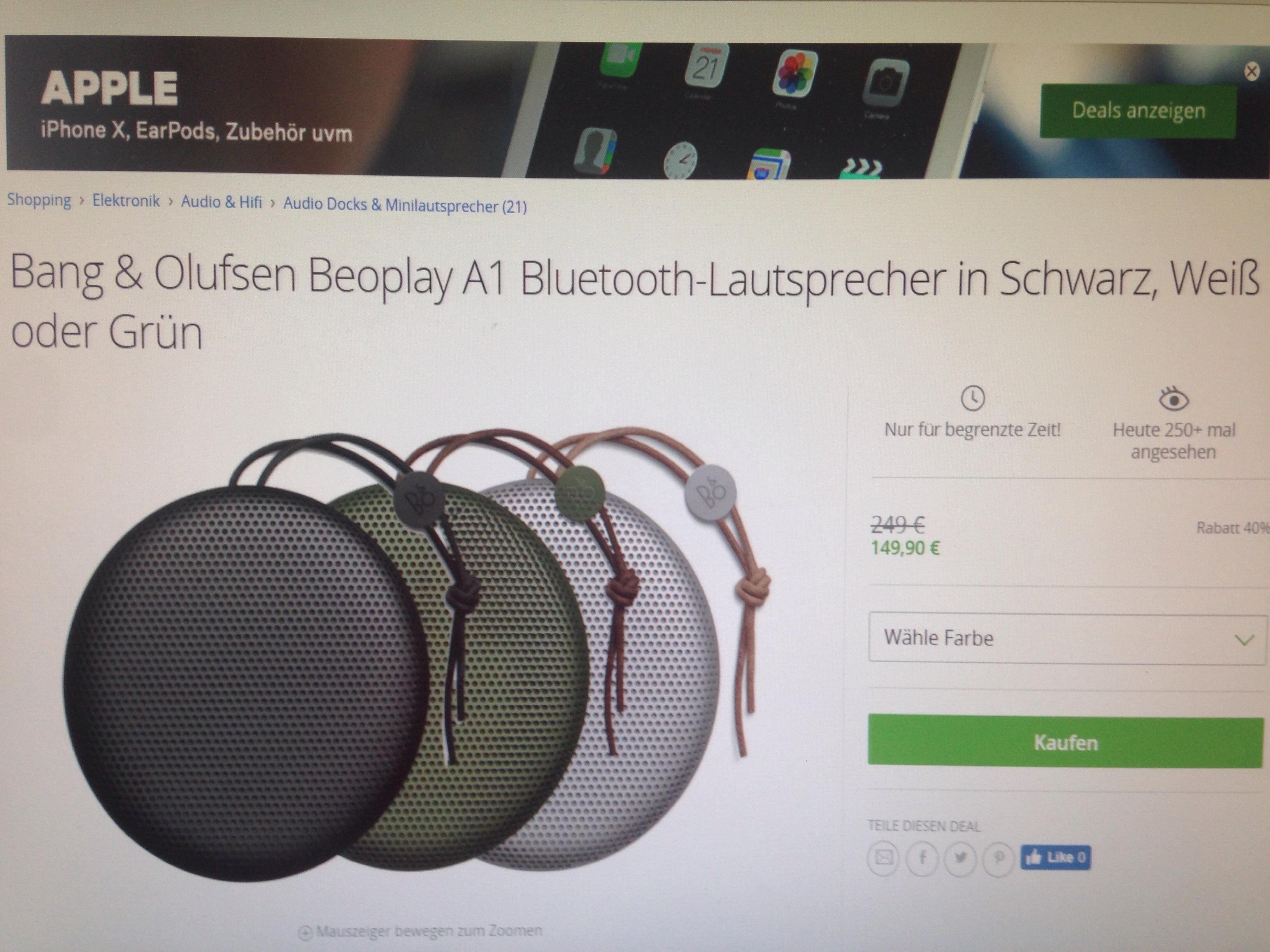 Beoplay A1 toller Lautsprecher zum kleinen Preis!!!!