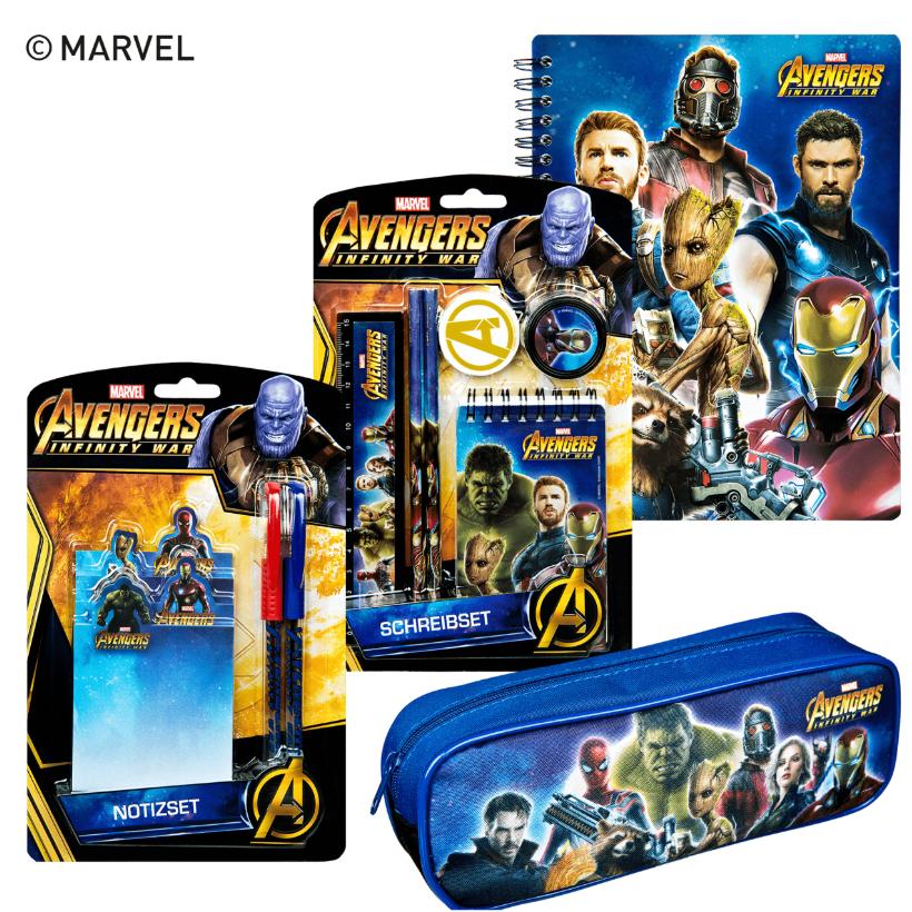 Zum Kinostart Avengers Infinty War - verschiedene, Avengers gelabelte Produkte ab 26.04. bei Aldi Nord