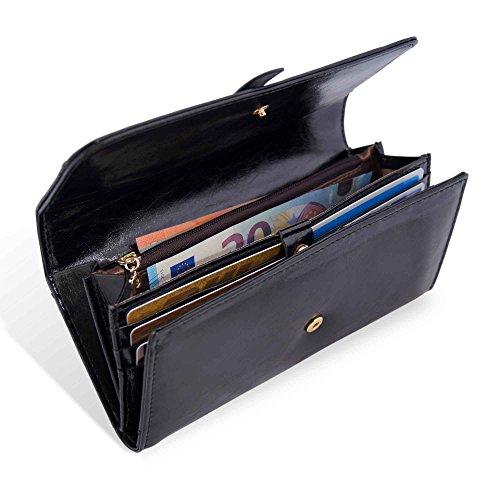 (Amazon mit Prime) große Geldbörse - schwarz, echtes Leder (von 40€ auf 20€ laut keep)