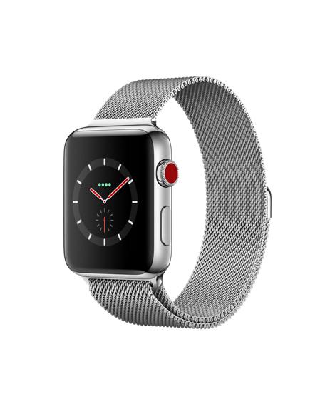 [Schweiz Microspot] APPLE Watch Series 3, 42 mm, GPS + Cellular, Edelstahlgehäuse mit Milanaise Armband