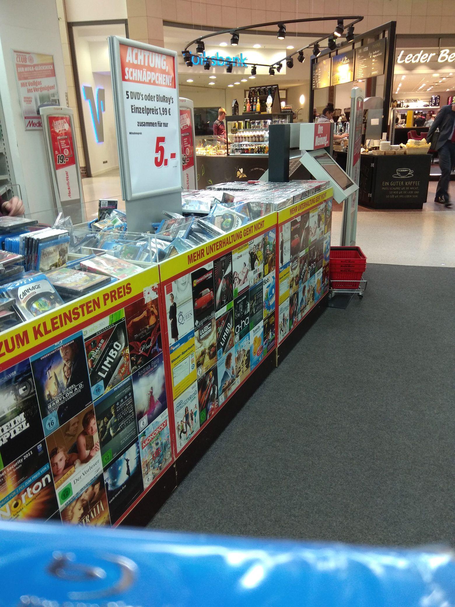 Lokal? Media Markt Lingen (Ems) 5 Blu-ray Filme für 5 Euro