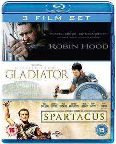 Robin Hood + Gladiator + Spartacus (3x Blu-ray) für 10,20€ (Zoom.co.uk)