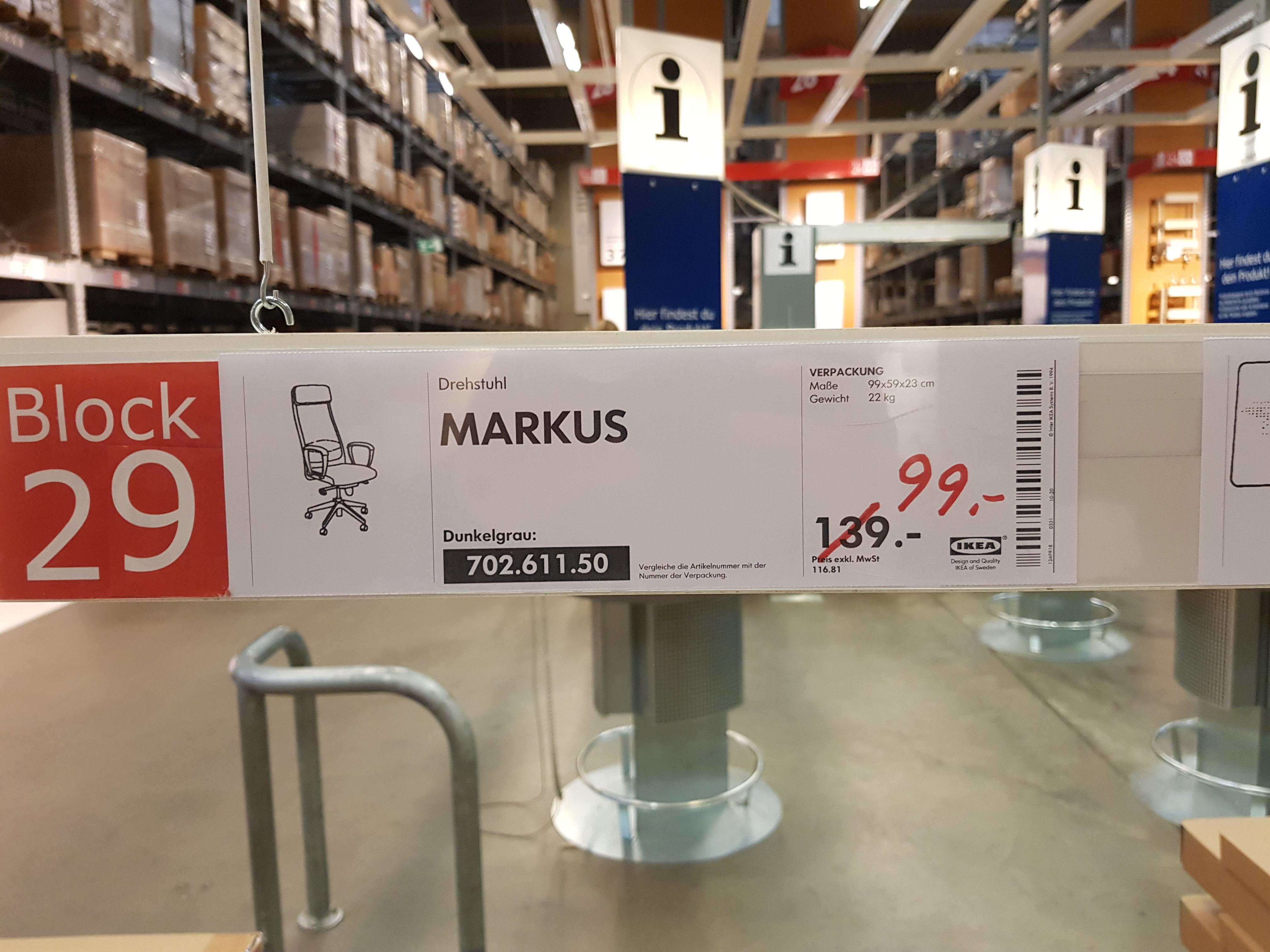 [Lokal Berlin Spandau] IKEA Markus Bürostuhl / Drehstuhl Stoffvariante für 99€