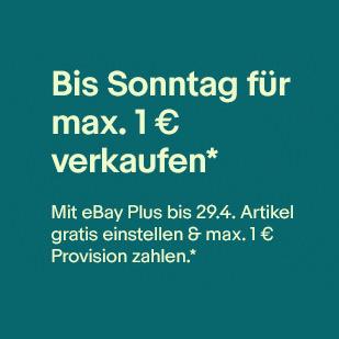 [eBay Plus] Max. 1€ Verkaufsprovision bis 29.04.
