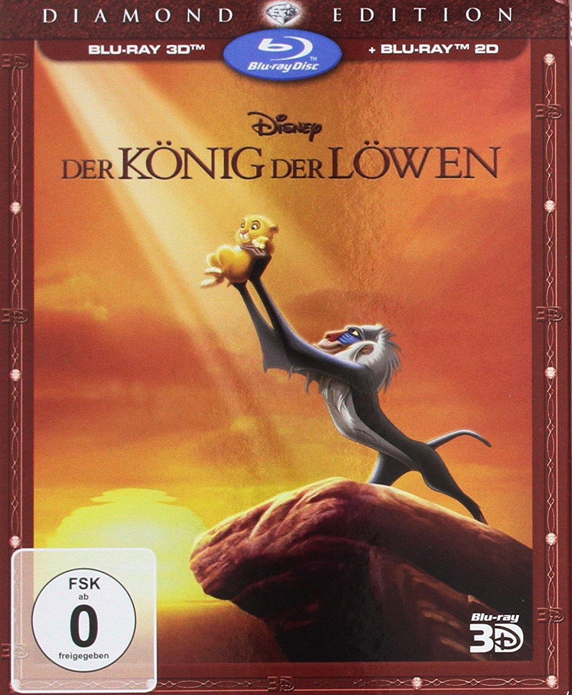 Der König der Löwen Diamond Edition (3D Blu-ray + 2D) & Alles steht Kopf 3D (3D Blu-ray + 2D) für je 10,99€ (CeDe)