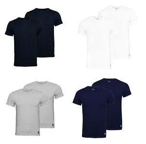 2er Pack Ralph Lauren Basic T-Shirt Rundhals vers. Farben
