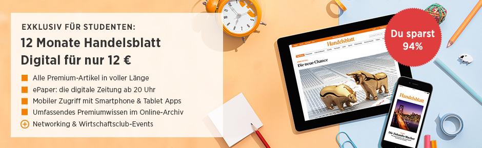 Handelsblatt 1 Jahr (Digital) für Studenten