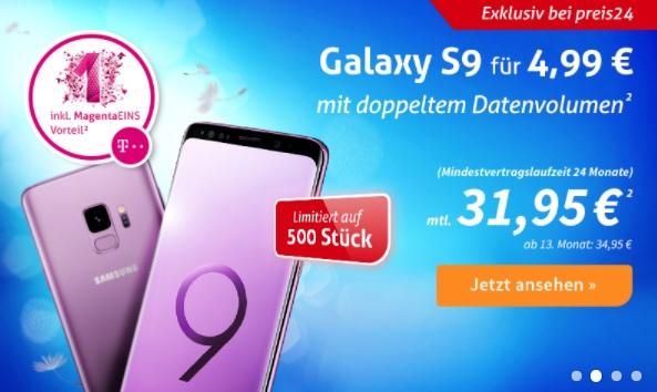 Für DSL Kunden Telekom M. Mobil S Young mtl. 29,95€ [8GB LTE] + Samsung Galaxy S9 für 4,99€
