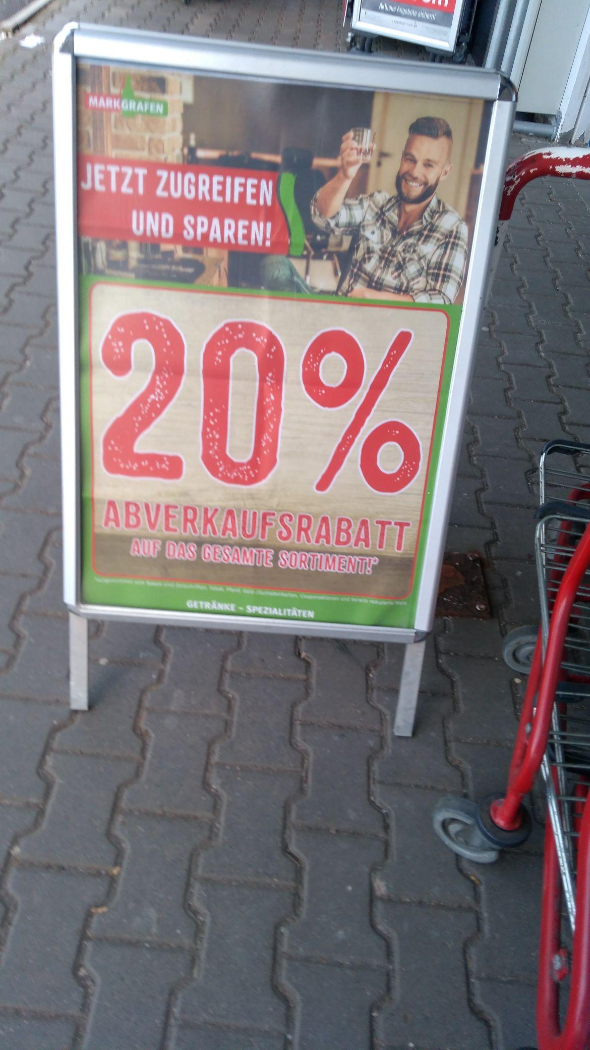 [LOKAL Coburg] (Markgrafen Getränkemarkt) 20% auf das gesamte Sortiment des Marktes