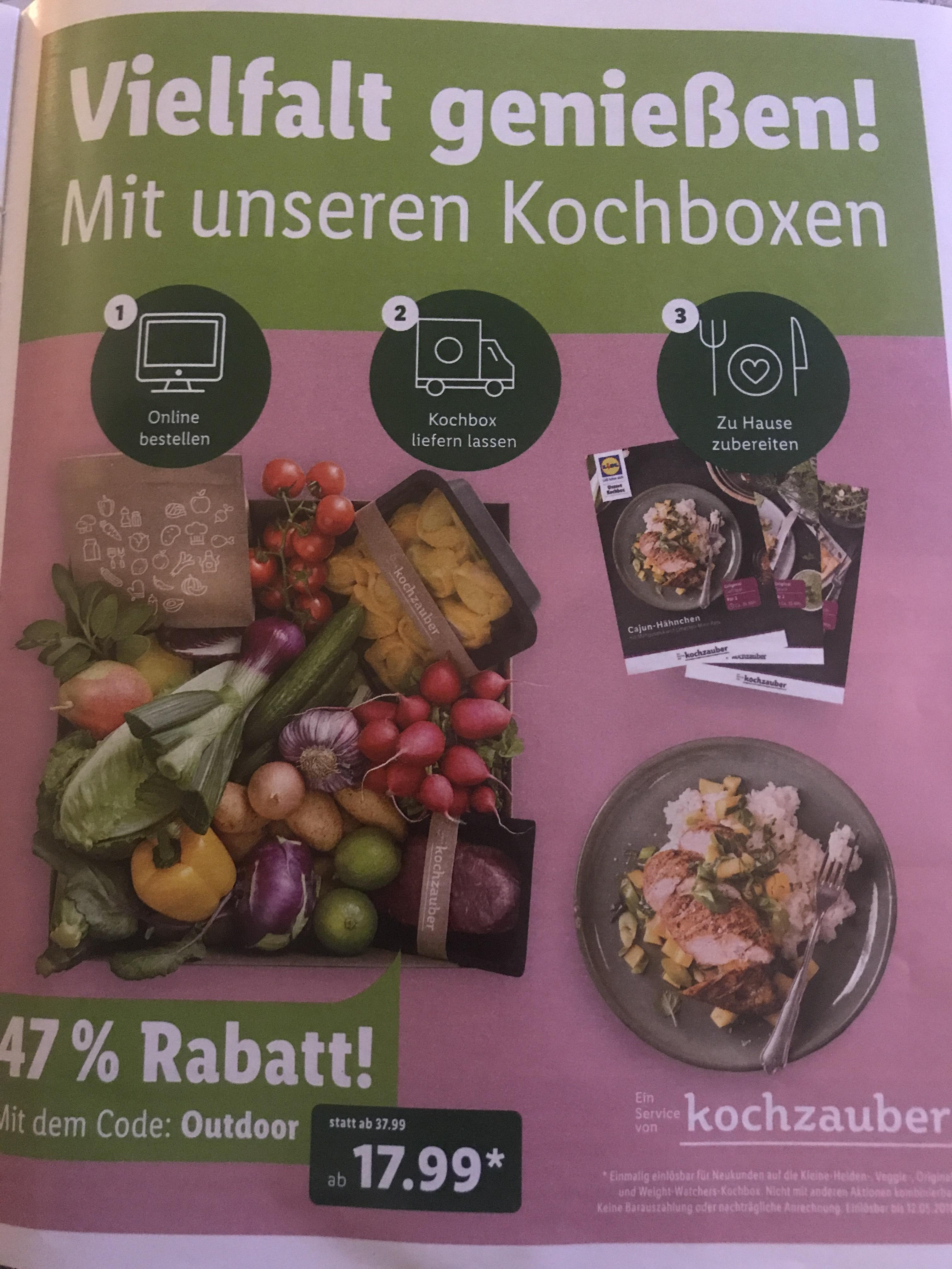 Kochzauber Gutschein Kochbox Lidl