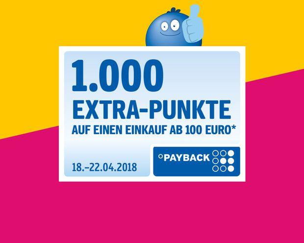 1000 Payback Punkte bei Einkauf ab 100€* [Galeria Kaufhof]