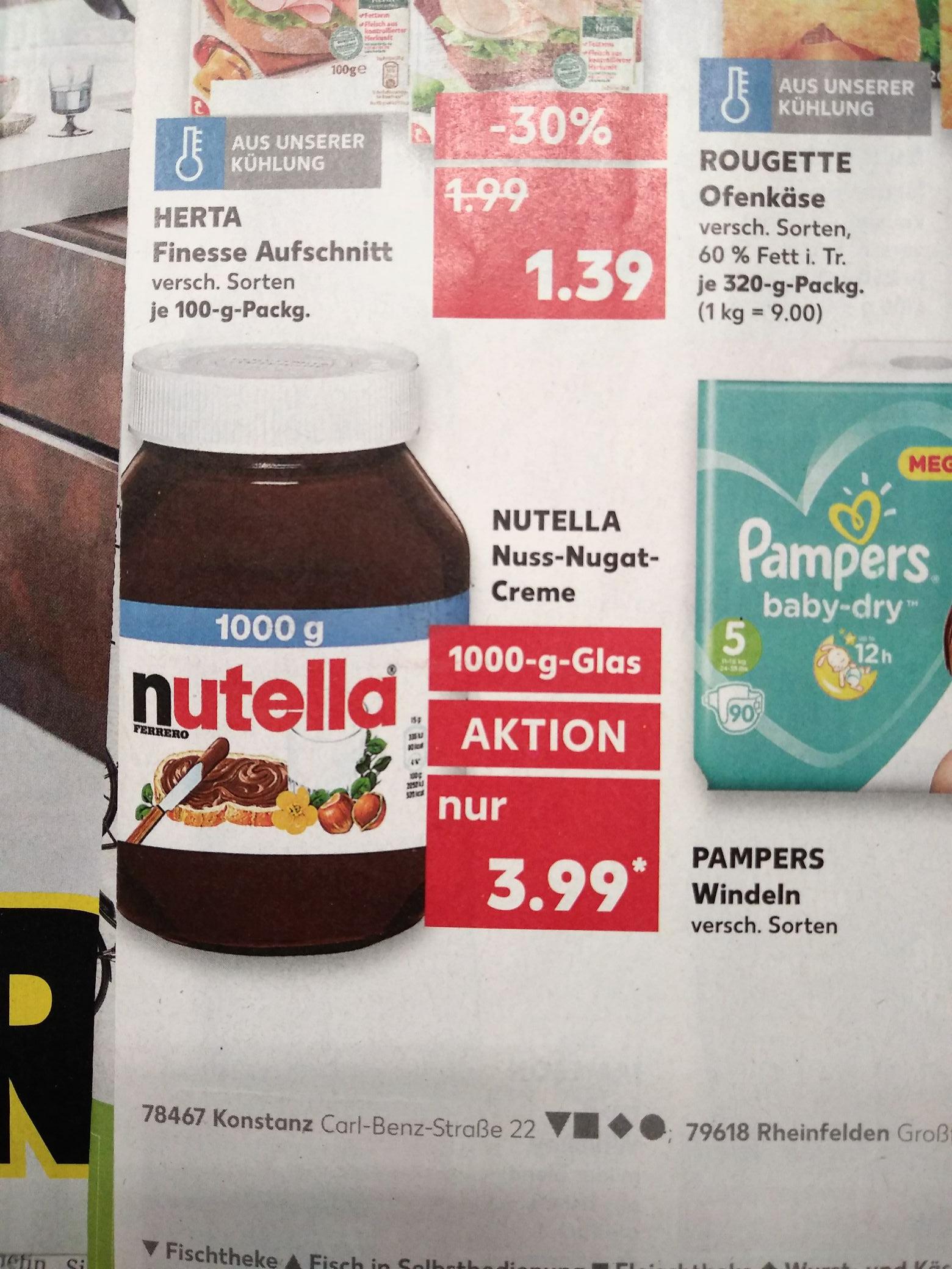 Nutella 1kg bei Kaufland