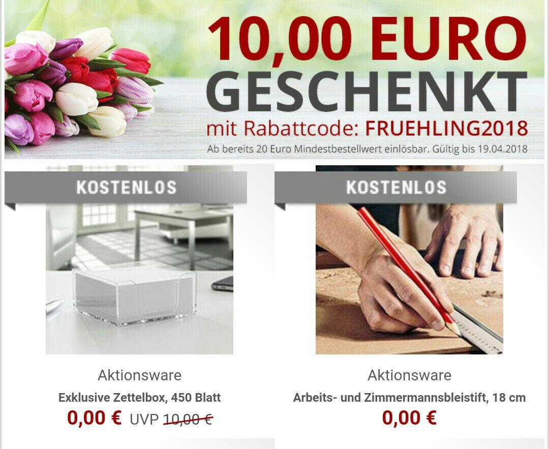 10,00 Euro Gutschein auf das komplette Sortiment