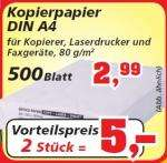 [Offline] 500 Blatt Kopierpapier 80g ab 2,50 Euro bei Thomas Philips