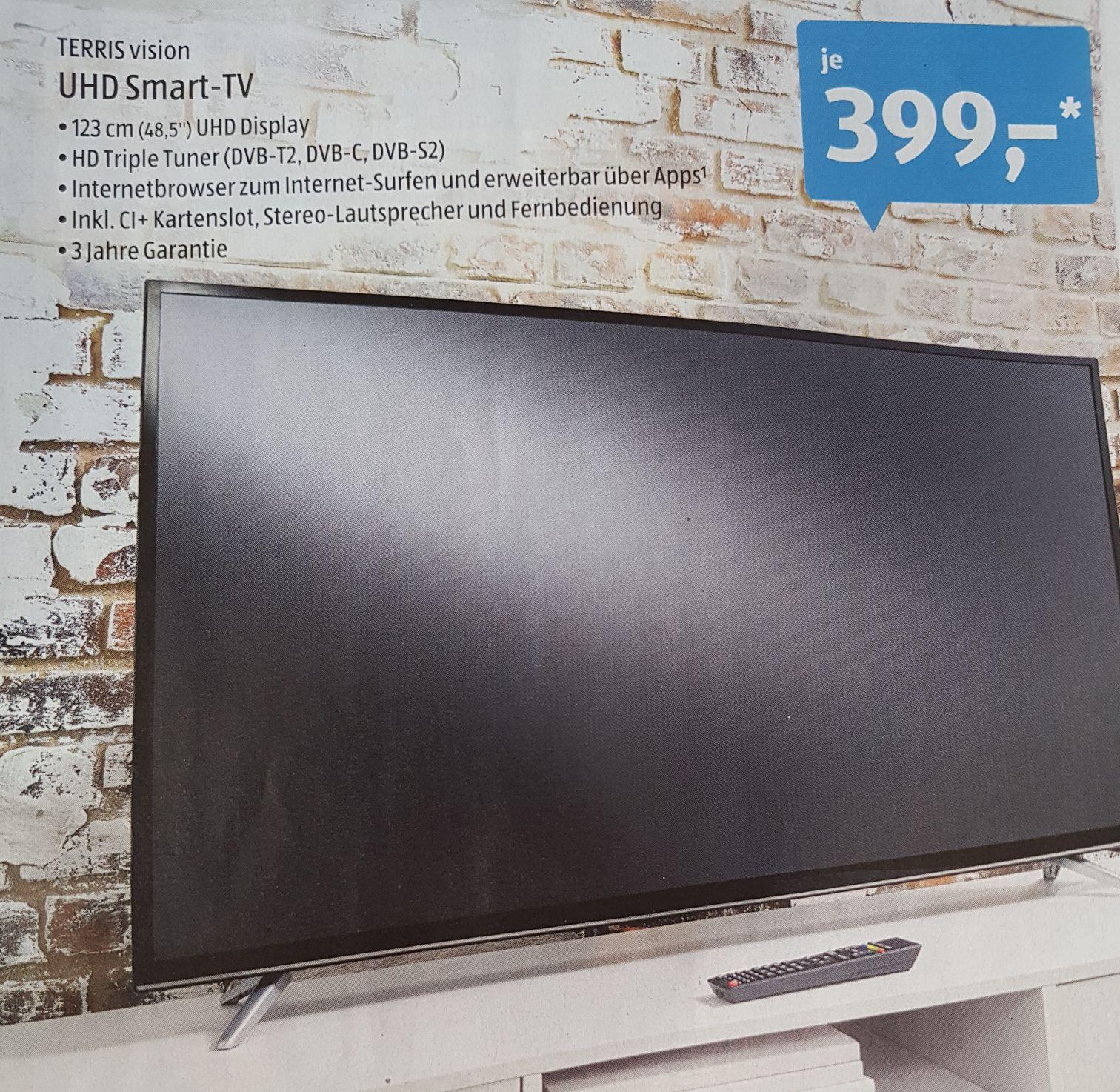 [Aldi Süd] Terris vision UHD Smart TV 48,5 Zoll