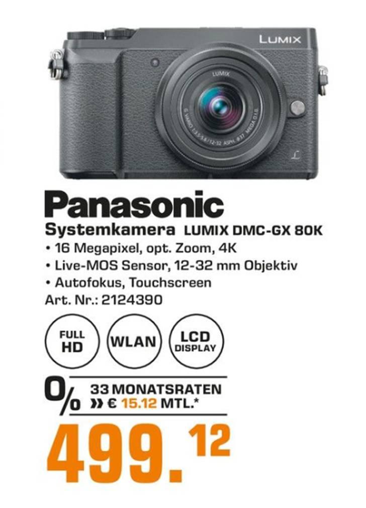 Panasonic GX80 K mit 12-32mm Objektiv [Lokal Saturn Stuttgart, Königsbau Passagen]