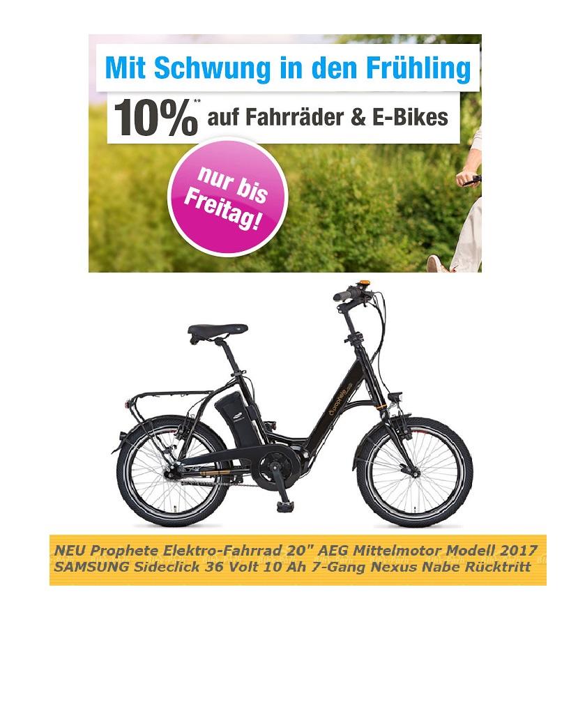 Garten XXL: 10% Rabatt auf Fahrräder und E-Bikes z.B. Alu-Kompaktrad