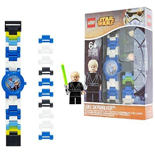 [Amazon] LEGO Star Wars 8020356 Luke Skywalker Kinder-Armbanduhr mit Minifigur und Gliederarmband zum Zusammenbauen | blau/weiß | Kunststoff | analoge Quarzuhr | Junge/ Mädchen | offiziell