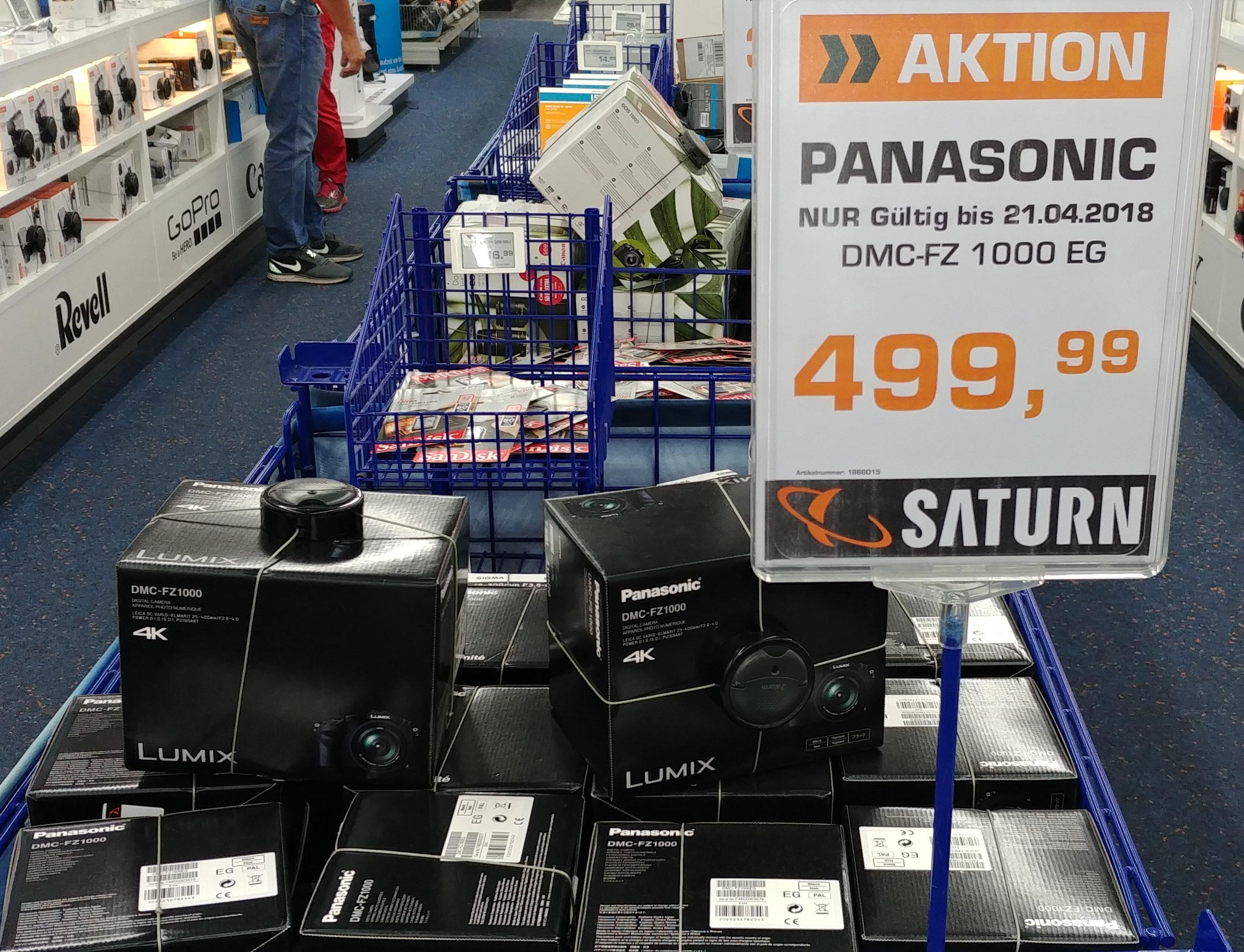Panasonic DMC-FZ1000 für 499,99 € Lokal im Saturn Stuttgart, Königsbau