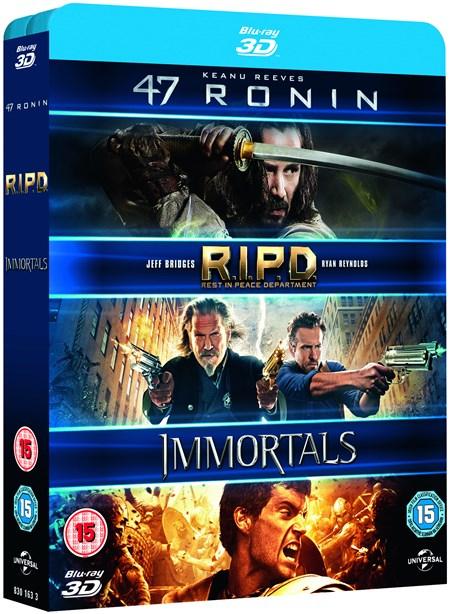 47 Ronin + RIPD + Krieg der Götter (3x 3D Blu-ray) für 10,20€ (Zoom.co.uk)