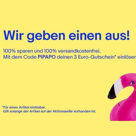 eBay - 3€ Gutschein auf Aktionsartikel (freebies möglich)